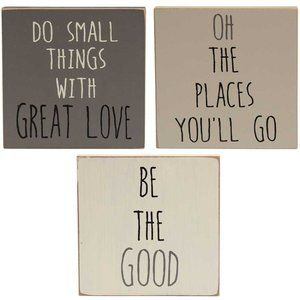 Be The Good Block Sign Wall Hanging- 3 asst.